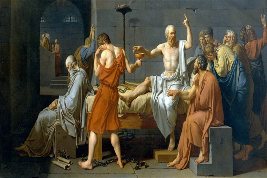 Jacques Louis David'in Ellerinden Sokrates'in Ölümü
